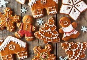 christmas baking ideas sugar crackle gingerbread cookies yum