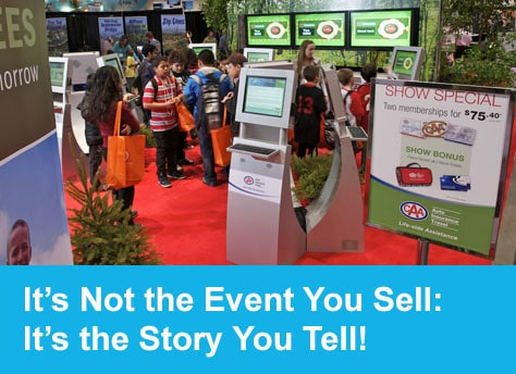 its not the event you sell